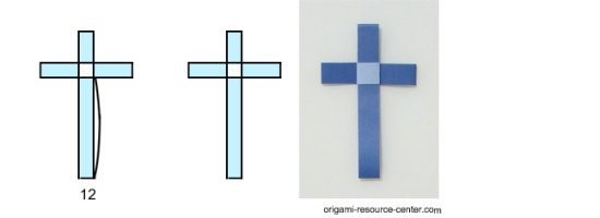 origami paper easter cross